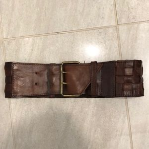 Anthropologie brown leather belt